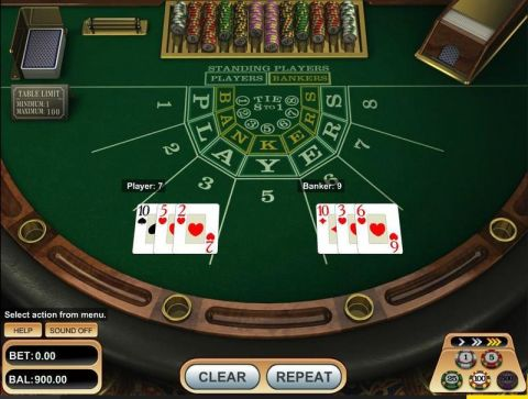 Baccarat made by Betsoft with 8 Decks
