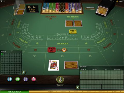 Baccarat Gold made by Microgaming with 8 Decks