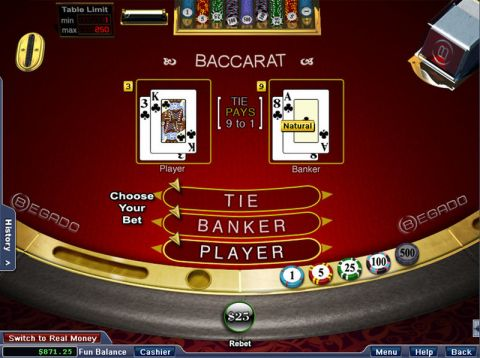 Baccarat made by NuWorks with 6 Decks