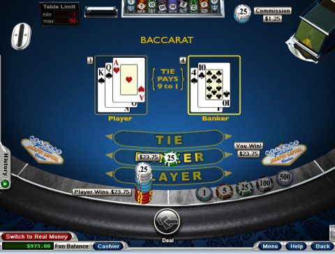 Baccarat made by RTG with 6 Decks