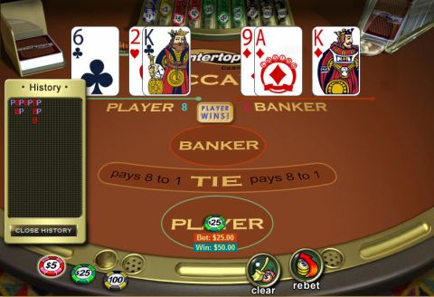 Baccarat made by WGS Technology with 8 Decks