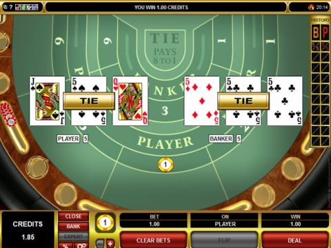High Limit Baccarat made by Microgaming with 8 Decks