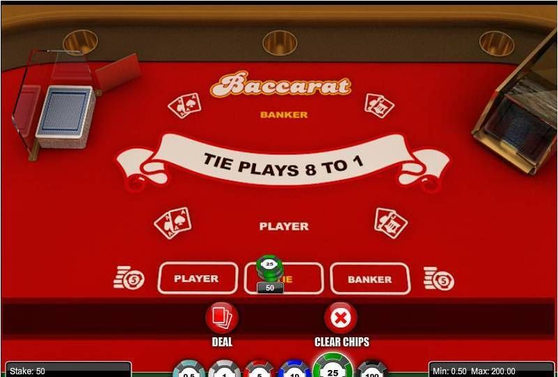 Baccarat made by 1x2 Gaming with 6 Decks