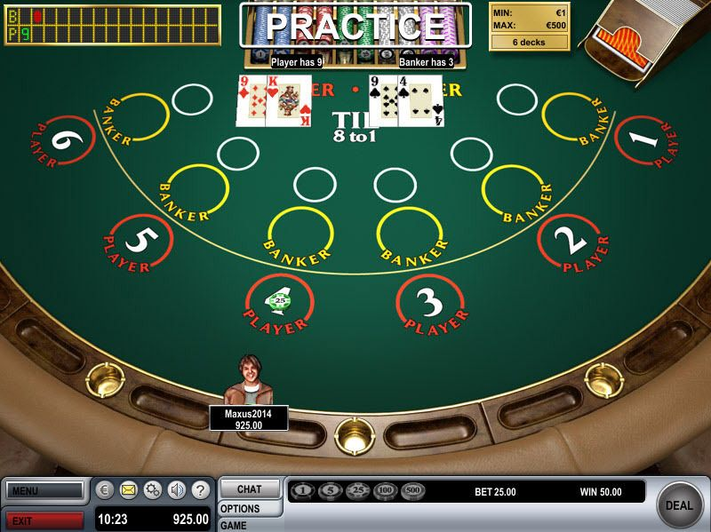 Mini Baccarat made by Boss Media with 6 Decks